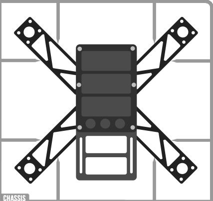 Chassis drone racer