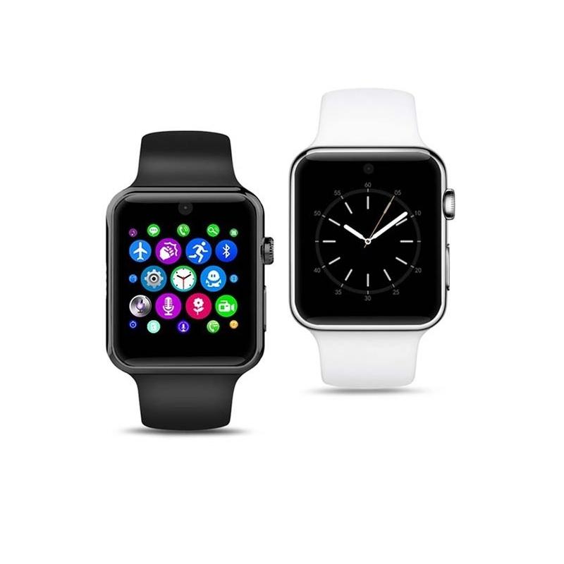 La montre connectée DM09 existe en 3 coloris : noir, blanc