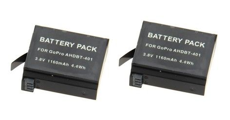 2 x batteries STS pour GoPro Hero 4
