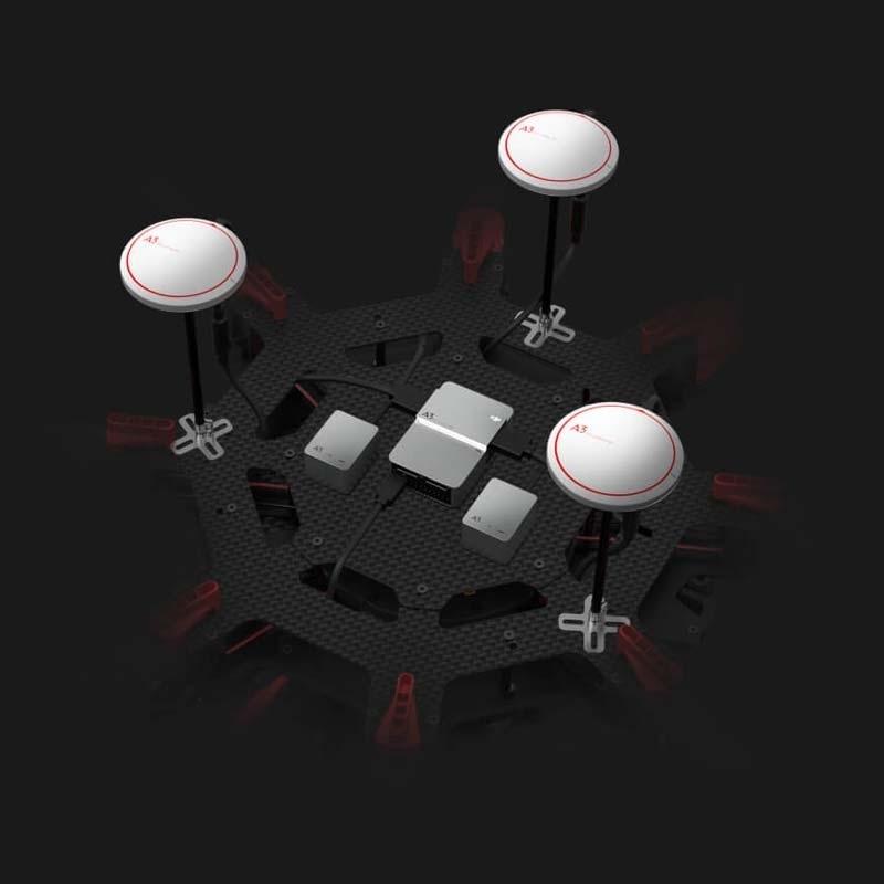 3 IMUs et 3 GNSS du contrôleur DJI A3 Pro