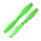 2 h�lices GemFan 6x4.5 bullnose horaires - Vertes