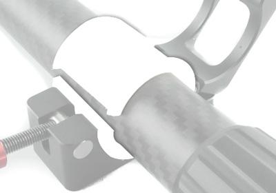Adaptateur handle bar 25mm pour fixation moniteur DJI Ronin-M 2