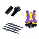 Pack complet du drone AirDog : 4 hélices, drone pliable, batterie, bracelet de contrôle AirLeash étanche