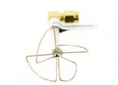 4 lobes antenne SL PinWheel 5-8 GHz coudée SMA