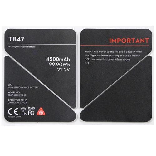 autocollant isolant batterie tb47 dji inspire1