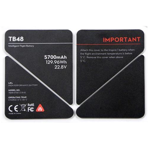 autocollant isolant batterie tb48 dji inspire1
