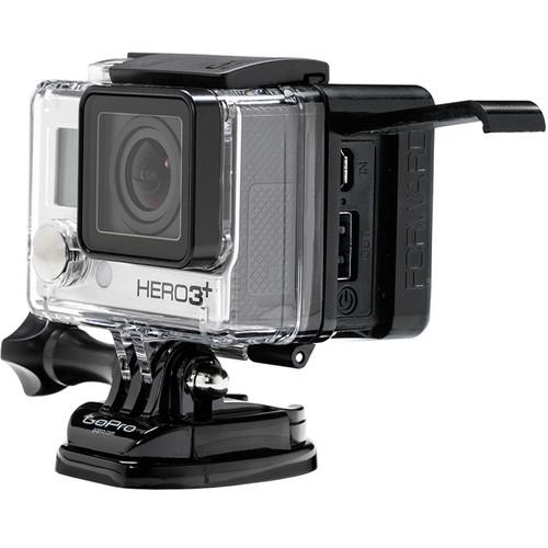 Batterie ALL DAY 2.0 pour caméras GoPro hero3+ vue de coté