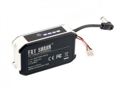 Batterie Fatshark avec témoin de charge compatible avec toutes les lunettes vidéo