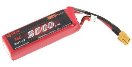 Batterie lipo 3S 2500 mAh 35C (XT60) - KyPOM