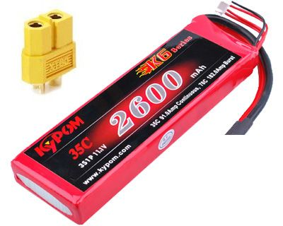 Batterie lipo 3S 2600mAh 35C (XT60) - KyPOM