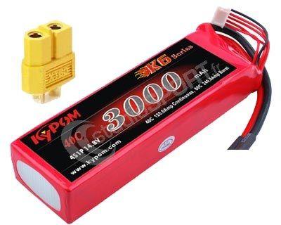 Batterie lipo 4S 3000 mAh 40C (XT60) - KyPOM