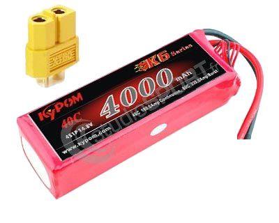 Batterie lipo 4S 4000 mAh 40C (XT60) - KyPOM
