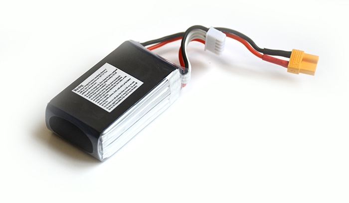 Batterie lipo 4S 480mAh 30C (XT30) - EPS - Vue du dessous