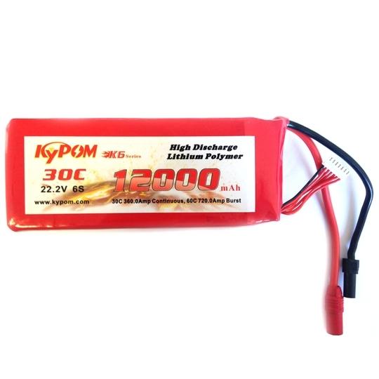 Batterie lipo 6S 12000 mAh 30C - KyPOM