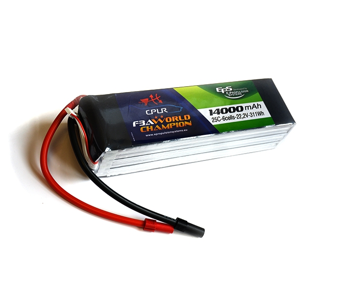 Batterie lipo 6S 14000 mAh 25C (AS150) - EPS - Vue du dessus