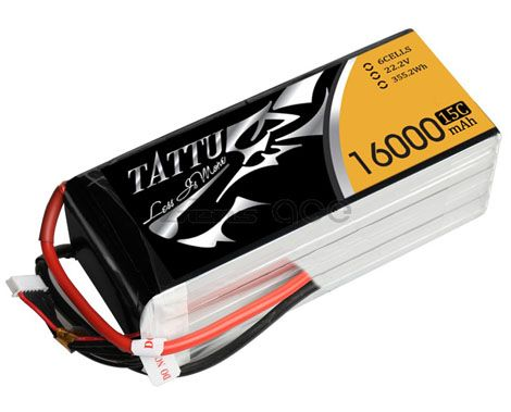 Batterie Lipo 6S 16000 mAh 15C (AS150) - TATTU