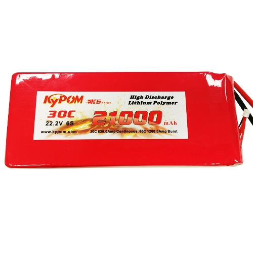 Batterie Lipo 6S 21000 mAh 30C (AS/XT150) - KyPOM