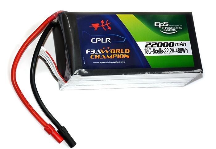 Batterie lipo 6S 22000 mAh 18C (AS150) - EPS - Vue du dessus
