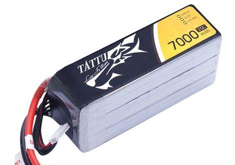 Batterie Lipo 6S 7000 mAh 25C (XT60) - TATTU