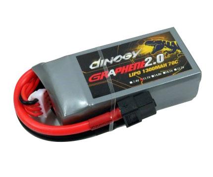 Batterie LiPo graphène 4S 1300mAh - Dinogy