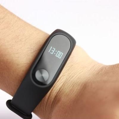 Bracelet connecté MiBand 2  Xiaomi porté