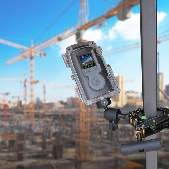 Brinno Caméra Construction Pro BCC200 vue de dos écran et commande