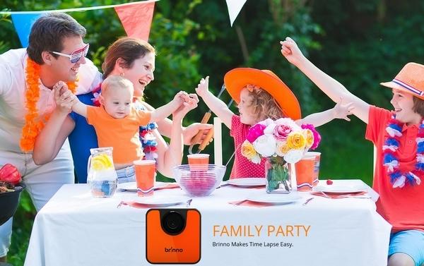 Caméra Brinno TLC120 lors d\'une fête de famille