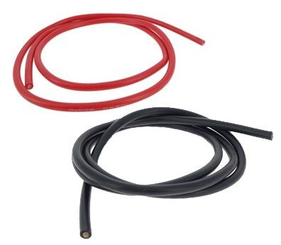 Câble d'alimentation silicone 5.27 mm2 10AWG (1 mètre) - Photo 1