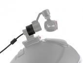 DJI Osmo fixé sur un casque via le câble d'extension