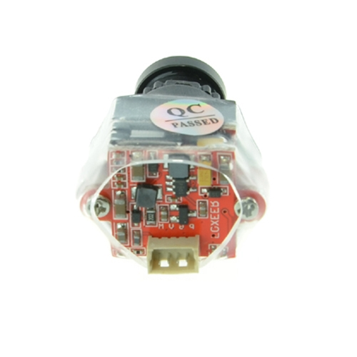 Caméra CCD Foxeer XAT650M vue de dos gaine thermo circuit