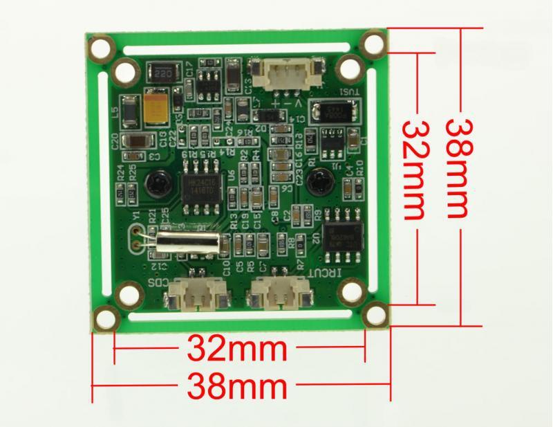 Caméra CMOS 800 lignes PAL 2.8mm découpable