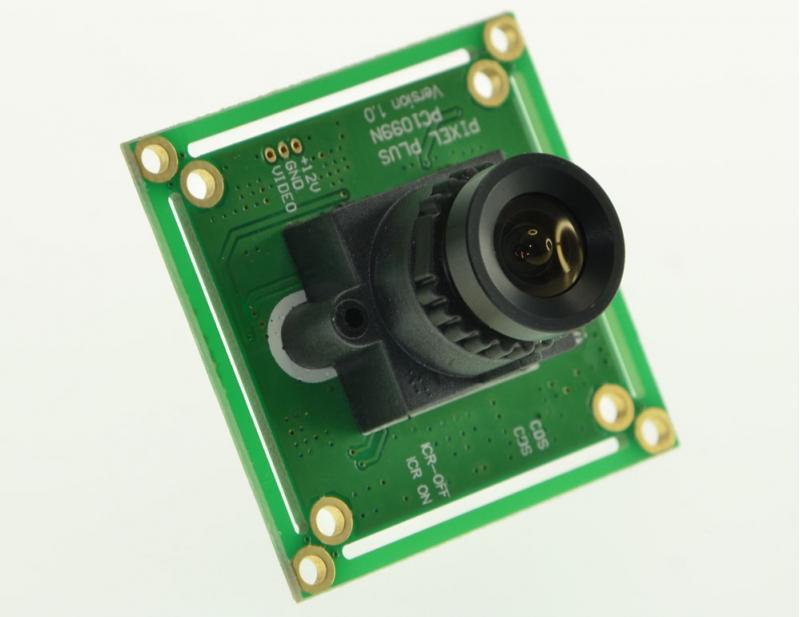 Caméra CMOS 800 lignes PAL 2.8mm - vue de biais