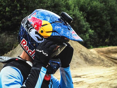 Drift Stealth 2 sur casque de moto