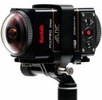 2 caméras Kodak SP360 4K installée sur une perche avec la double fixation