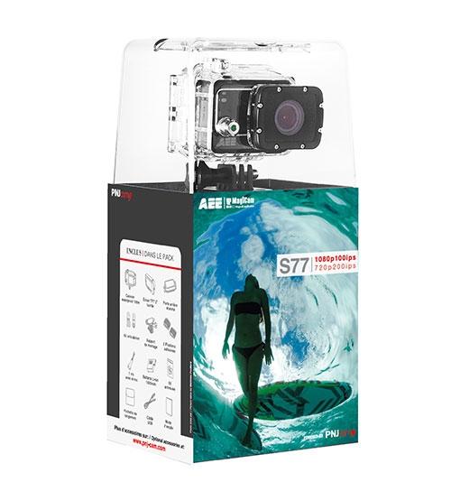 Caméra PNJcam AEE S77 packagée