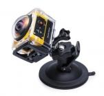 Caméra embarquée 360° SP360 Kodak - Extreme pack montée dans le caisson et sur la fixation ventouse