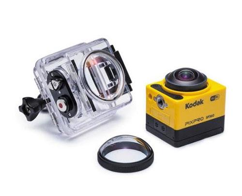 Caméra 360° SP360 Kodak avec caisson et lentille