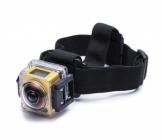 Caméra embarquée 360° SP360 Kodak - Extreme pack installée dans le caisson et fixée sur le bandeau