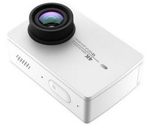 Caméra Xiaomi Yi 4K vue de biais caméra blanche
