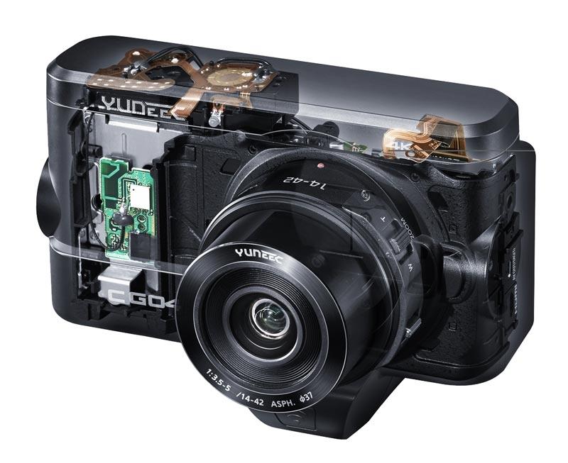 Caméra Yuneec CGO4 4K vue éclatée