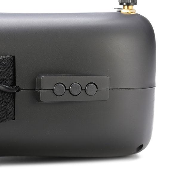 Zoom sur les boutons de contrôle du casque vidéo FPV Eachine VR-007