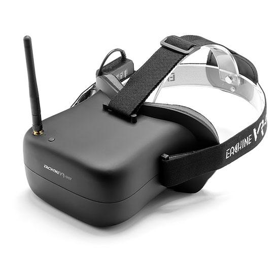 Casque FPV Eachine VR-007 - vue de biais