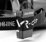 Batterie lipo 2S sur la sangle du casque FPV Eachine VR-007