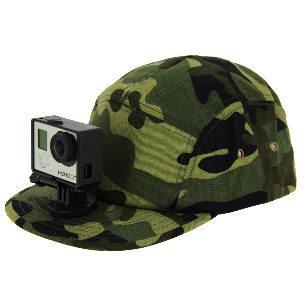 casquette chasse vidéo-cap camouflage pour gopro