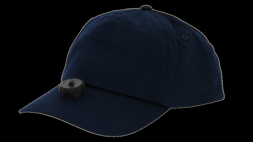 casquette chasse video cap bleu marine pour camera embarquée