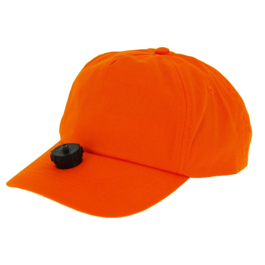 Casquette chasse vidéo cap orange pour caméra embarquée