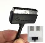Zoom sur la connectique du chargeur allume-cigare pour DJI Phantom 4