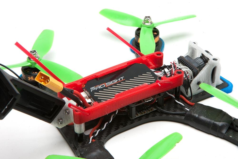 Châssis Shendrones Prosight Tweaker vue du support VTX