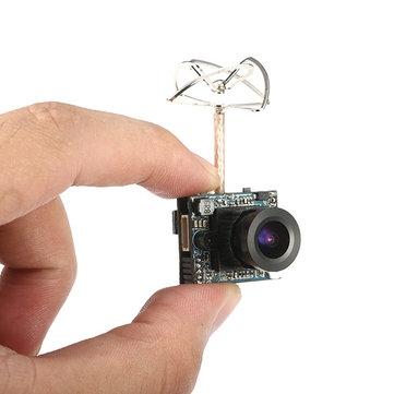Combo Caméra/Emetteur Eachine MC02 5.8G 40CH 25/200MW entre deux doigts