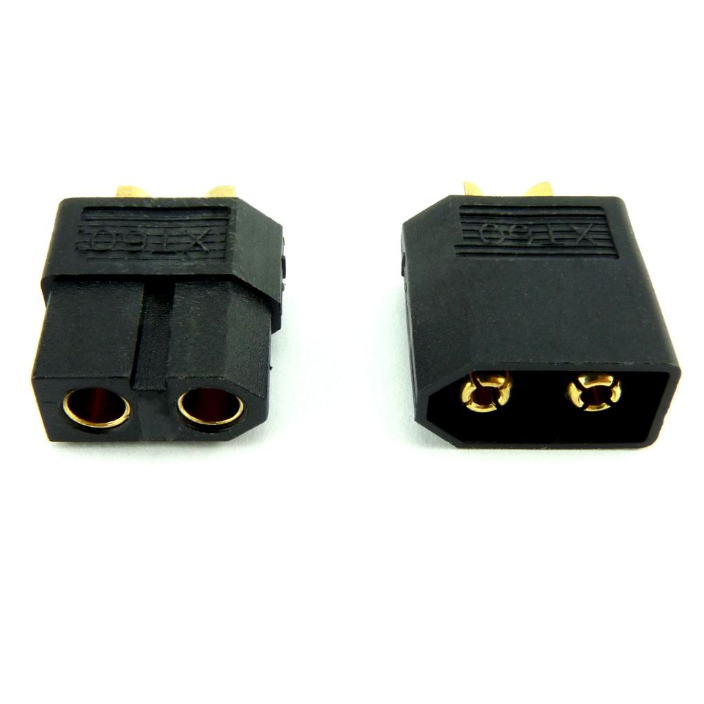 Connecteur XT60 noir mâle + femelle